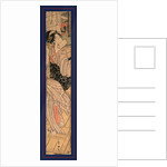 Kaidan o oriru onna, Beauty descending stairs by Utagawa Toyokuni