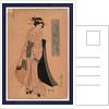 Chochi o motsu onna, Woman carrying a paper lantern by Ikeda Eisen