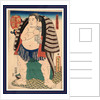 Nishi no kata Kagamiiwa, The sumo wrestler Kagamiiwa of the West Side by Utagawa Toyokuni