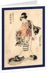 Sawamura Tanosuke no Yusuke nyobo Osen, The actor Sawamura Tanosuke in the role of Yusuke's wife Osen by Utagawa Toyokuni