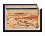 Yoshiwara yuki no asa, Morning snow at Yoshiwara by Ando Hiroshige