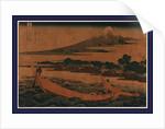 Tokaido ejiri tago no ura ryakuzu, A sketch of Tago Bay at Ejiri along the Tokaido by Katsushika Hokusai