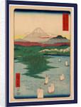 Musashi noge Yokohama, Noge, Yokohama in Musashi Province by Ando Hiroshige