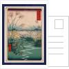 Kai outsuki no hara, Otsuki fields in Kai Province by Ando Hiroshige
