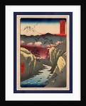 Kai inume toge, Inume Pass in Kai Province by Ando Hiroshige