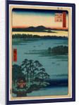 Inokashiranoike benten no yashiro, Bentei Shrine, Inokashira Pond by Ando Hiroshige