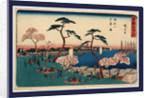 Gotenyama hanazakari no zu, View of blossoms at Gotenyama by Ando Hiroshige