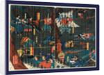 Soga no adauchi, Scene from a Soga play by Utagawa Yoshikazu