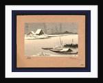 Yuki no watashiba, Ferryboats in snow by Uehara Konen