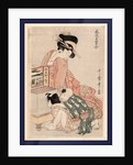 Okarakuri, Viewing a peep box show by Kitagawa Utamaro