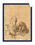 Ushjiwakamaru no takageta naoshi, Repairing Ushiwakamaru's high clogs (takageta) by Utagawa Toyohiro