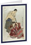 Sandaime ichikawa yaozo (no fuwa banzaemon to) sandaime sakata hangoro (no kosodate no kannonbo) by Toshusai Sharaku