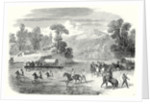 End of the American Civil War: The Last Days of the Confederate Government the Train of the Confederates Crossing the Pe-Dee River North Carolina 22 July 1865 by Anonymous