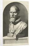 Portrait Bust of Adriaansz Pieter van der Werff by Jan de Bisschop