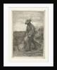 Man binds sheaf on field with corn by Johanna Henriëtte Besier