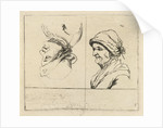 Study Sheet with two portrait busts by Marie Lambertine Coclers