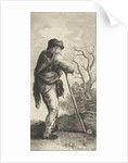 Man leaning on a stick by Hendrik Bary