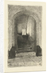 View of the staircase in the prinsenhof Delft by Petrus Johannes Arendzen