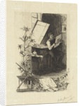 Print Maker in his workshop by Willem Steelink II