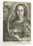 Saint Agatha with cut breast by Cornelis Galle II