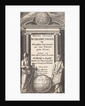 Globe with two scholars by Abraham Elzevier I