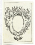 Cartouche with two winged women by Anonymous