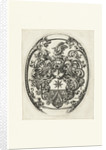 Unknown arms in oval by Michiel le Blon