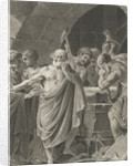 Pythagoras discovered the size ratio in the drawing by Lambertus Antonius Claessens