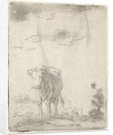 Landscape with cow by Pieter Janson