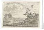 Landscape with two fishermen by Johannes Janson