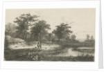 Two hunters near a fen by Hermanus Jan Hendrik van Rijkelijkhuysen