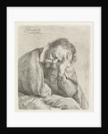 Portrait of sleeping old man by Jan Lievens