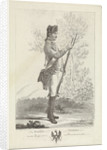 Prussian musketeer with musket and bayonet by Mathias de Sallieth