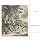 Pan and Syrinx with dancing putti by Dancker Danckerts