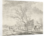 Landscape with farm and field by Johannes Janson