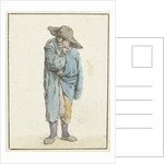 Standing farmer with hand and arm into his cloak by Adriaen van Ostade