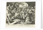 Raising of Lazarus by Adriaen Collaert