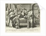 Healing the mother of Peter by Adriaen Collaert