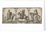 Three equestrian portraits by Claes Jansz. Visscher II