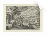 Landscape with Abraham and the Three Angels by J. Janssonius