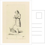 Baker with basket of breads by Marie Lambertine Coclers