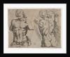 Study Sheet with two male torsos by Pieter Feddes van Harlingen