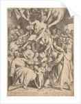 Cripple lowered through the roof to Christ by Abraham van Waesbergen