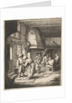 Man pays his expenses to woman in an inn by Adriaen van Ostade