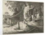 Spinning woman for a house by Adriaen van Ostade