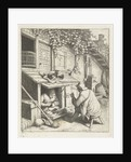 Shoemaker in store for his house and a customer by Adriaen van Ostade