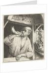 Bakker blows a horn by Adriaen van Ostade