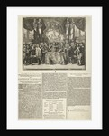 Presentation and description of the appointment of Prince William III as captain-general of the Dutch armed forces by Romeyn de Hooghe