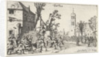 Battle at an inn (touch) by Johannes Pietersz. Berendrecht