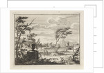 ruinous landscape with classical buildings by Anonymous